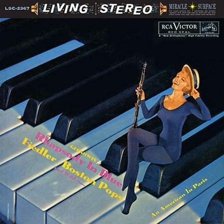 Gershwin – AN AMERICAN IN PARIS – RHAPSODY IN BLUE – FIEDLER
