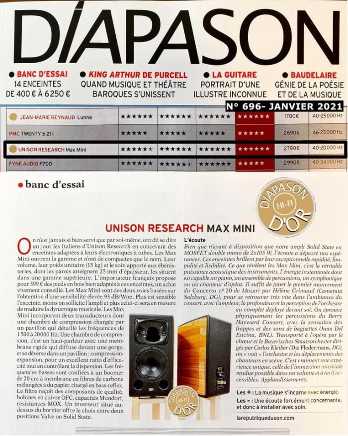 רמקולי מדף Unison Research - Mini Max