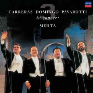 תקליט אופרה ,The Three Tenors 25th Anniversary Edition, כ 2 תקליטים 180 גרם בהוצאת Decca. Carreras, Domingo and Pavarotti in Concert, Rome 1990